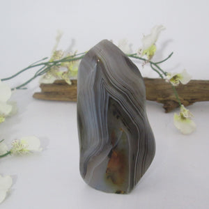 """Pure Serenity"" Banded Agate Flame"