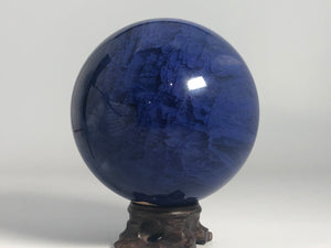 Blue Smelted Sphere & Stand