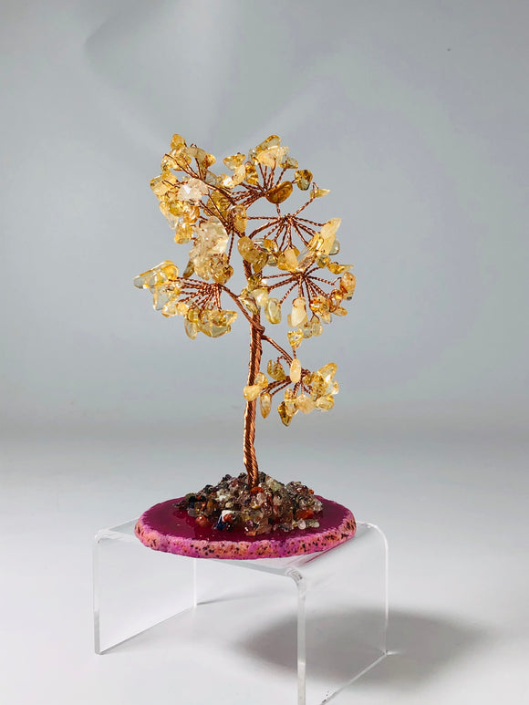 Citrine Tree of Life Tree Agate Base
