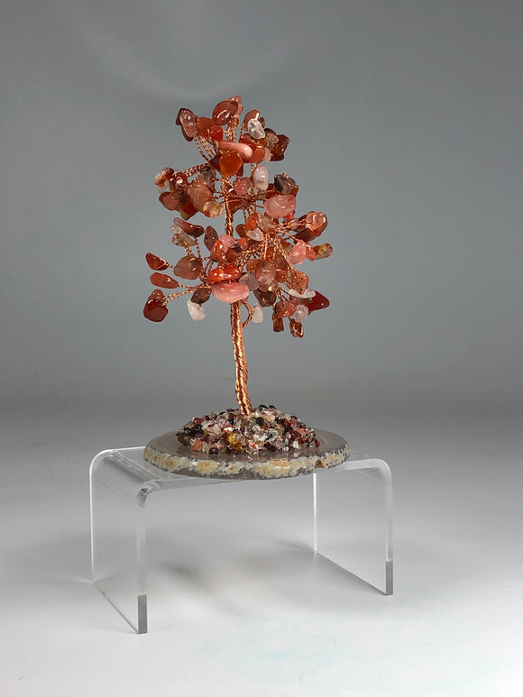 Carnelian Tree of Life Agate Base