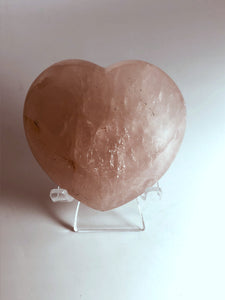 """Unconditional Love"" Rose Quartz Heart"