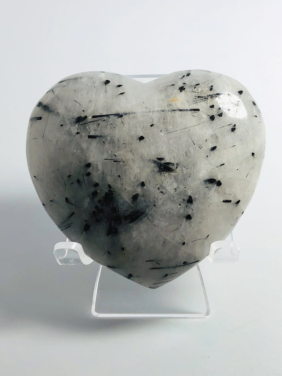 Tourmalinated Quartz Heart