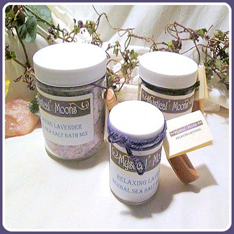 Relaxing Lavender Herbal Sea Salt Bath