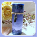 Abundance Pillar Candle With Blue Sandstone Pendant Candles Mystical Moons
