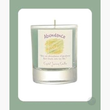 Abundance Soy Votive Candle Candles Mystical Moons