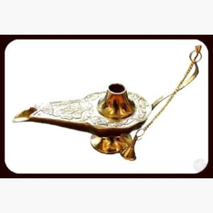 Aladdin Lamp Incense Burner Mystical Moons
