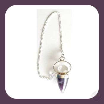 Amethyst Teardrop & Crystal Ball Pendulum Mystical Moons
