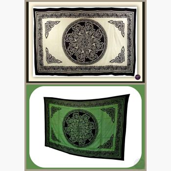 Ancient Celtic Knot Tapestry Mystical Moons