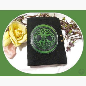 Black Buffalo Celtic Tree Of Life Latched Leather Journal Journals Mystical Moons