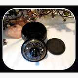 Black Engraved Incense Burner Mystical Moons