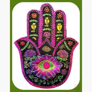 Black & Fuchsia Hamsa Hand Keepsake Box Mystical Moons
