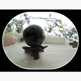 Black Obsidian Crystal Ball & Stand 50Mm Mystical Moons