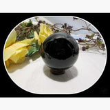 Black Obsidian Crystal Ball & Stand 80Mm Mystical Moons