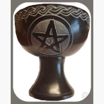 Black Pentagram Chalice Burner Incense Mystical Moons