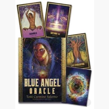 Blue Angel Oracle Deck & Book Tarot Cards Mystical Moons
