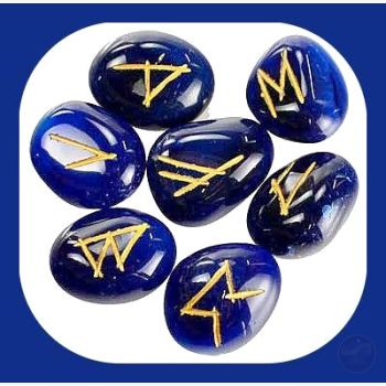Blue Onyx Rune Set Mystical Moons