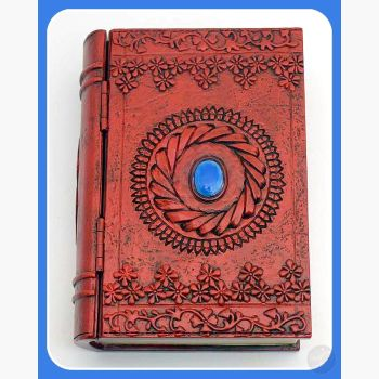 Blue Stone Book Keepsake Box Mystical Moons