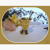 Brass M & P Set Mortar Pestles Mystical Moons