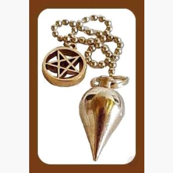 Brass Pentagram Pendulum Mystical Moons