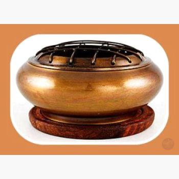 Brass Screen Incense Burner With Coaster Mystical Moons