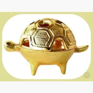 Brass Turtle Burner Incense Mystical Moons
