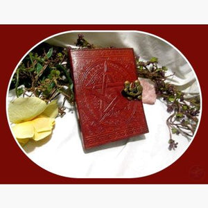 Brown Pentagram Latched Leather Journal Journals Mystical Moons
