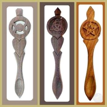 Carved Wooden Spoons Mortar & Pestles Mystical Moons