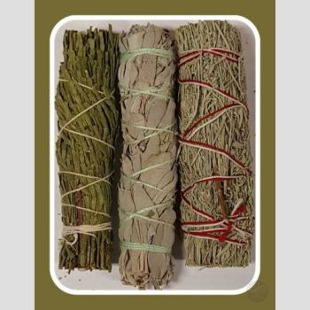 Cedar White & Blue Sage Smudge Sticks Stick Mystical Moons