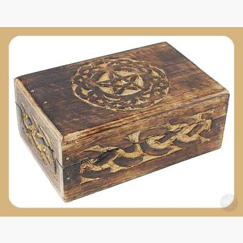 Celtic Circle Pentagram Trinket Box Mystical Moons