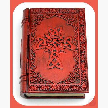 Celtic Cross Book Keepsake Box Mystical Moons
