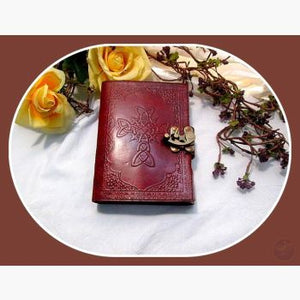 Celtic Cross Latched Leather Journal Journals Mystical Moons