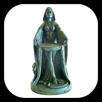 Celtic Goddess Danu Statue Mystical Moons