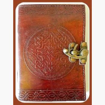 Celtic Knot Leather Latched Journal Journals Mystical Moons
