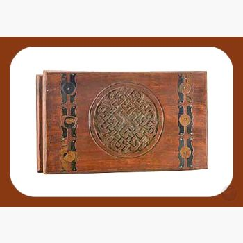 Celtic Knot Wooden Chest Mystical Moons
