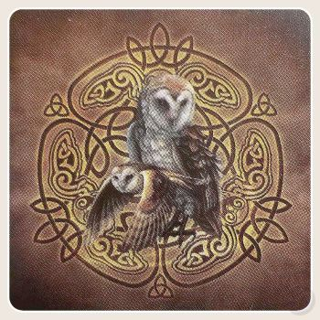 Celtic Owl Umbrella Mystical Moons