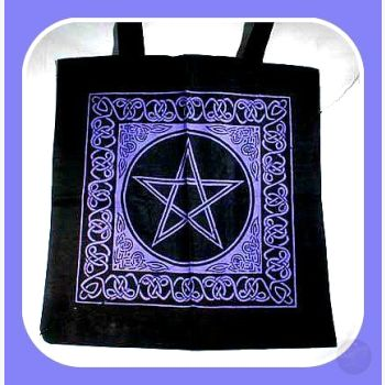 Celtic Pentacle Knotwork Tote Bag Bags Mystical Moons