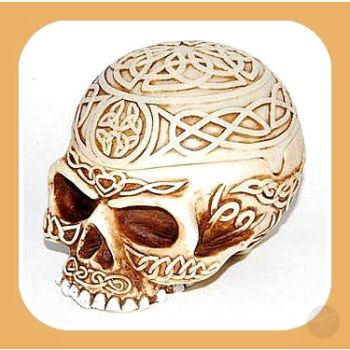 Celtic Skull Vessel Box Mystical Moons