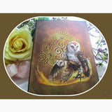 Celtic Wise Owl Journal Mystical Moons