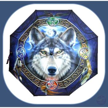 Celtic Wolf Umbrella Mystical Moons