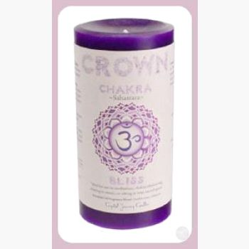 Crown Chakra Pillar Candle Candles Mystical Moons