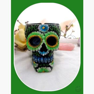 Day Of The Dead Ash Catcher Skull Incense Holder Mystical Moons