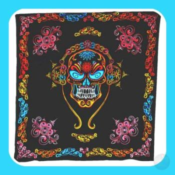 Day Of The Dead Skull Tapestry Mystical Moons
