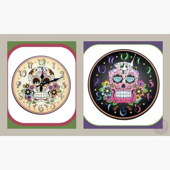 Day Of The Dead Wall Clock Clocks Mystical Moons