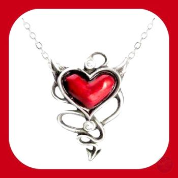 Devil Heart Necklace Mystical Moons
