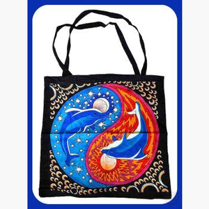 Dolphin Yin Yang Tote Bag Bags Mystical Moons