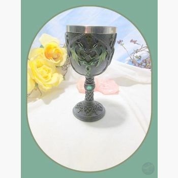 Double Green Dragon Chalice Chalices Mystical Moons