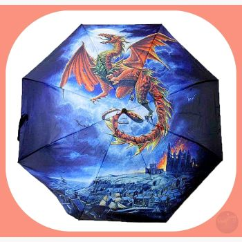 Dragon Umbrella Mystical Moons