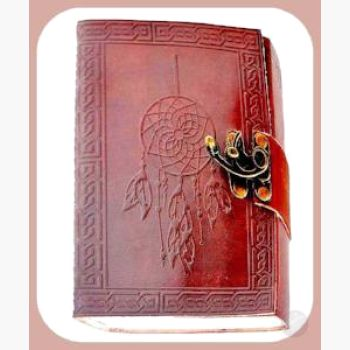 Dream Catcher Leather Latched Journal Journals Mystical Moons