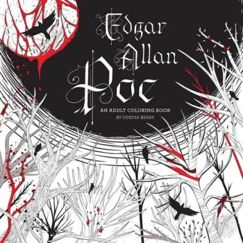 Edgar Allen Poe Coloring Book Books Mystical Moons