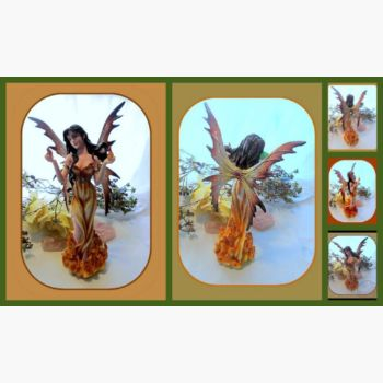 Elemental Fire Fairy Statue Mystical Moons